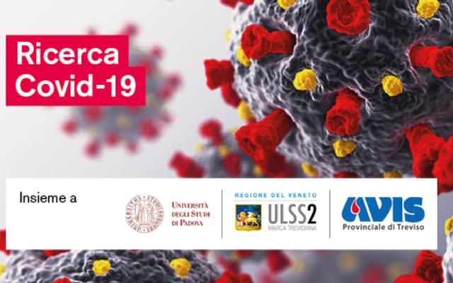 Covid-19: una nuova ricerca di Tes con Università di Padova, AULSS2 e Avis Provinciale Treviso